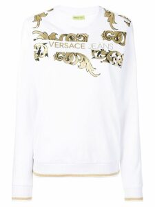 Versace Jeans Couture logo baroque sweatshirt - White