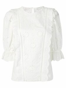 Veronica Beard lace panel blouse - White