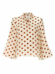 Karen Walker Spielmann blouse - NEUTRALS