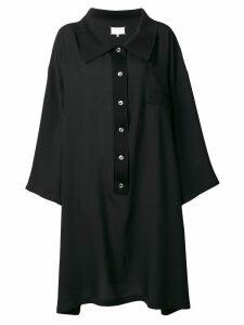 Maison Margiela collared oversized blouse - Black