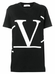 Valentino deconstructed VLOGO T-shirt - Black