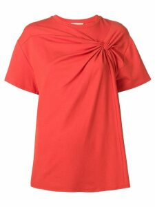 Erika Cavallini twisted-front blouse - Orange