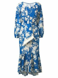 Johanna Ortiz floral asymmetric dress - Blue