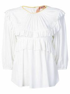 Nº21 frill-trim blouse - White