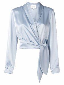 Nanushka wrap front blouse - Blue