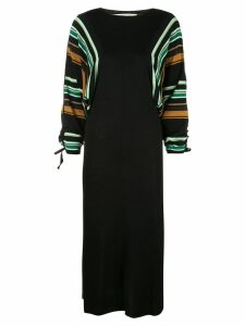 Marni striped sleeve dress - Black