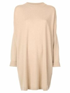 Dusan oversized draped sweater - Neutrals