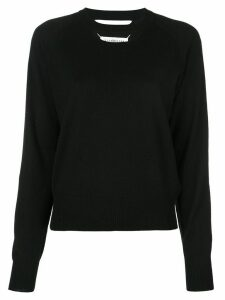 Maison Margiela cut-out jumper - Black