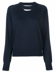Maison Margiela cut-out jumper - Blue