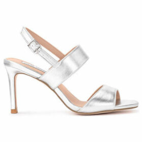 Steve Madden  Ellen silver vegan leather sandal  women's Court Shoes in Silver