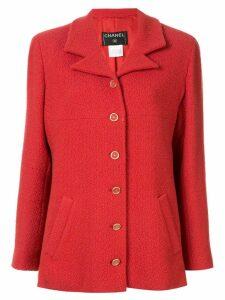 Chanel Pre-Owned long sleeve tweed jacket - Red