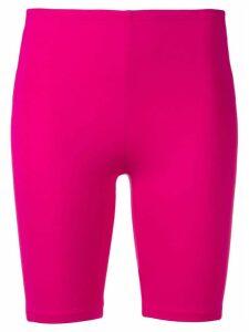 Paco Rabanne back logo stripe cycling shorts - Pink