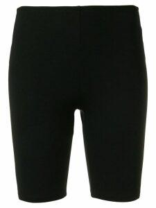 Paco Rabanne back logo stripe cycling shorts - Black