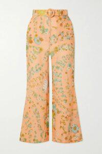 Alessandra Rich - Crystal-embellished Leopard-print Silk-jacquard Midi Dress - Lilac