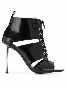 Alexander McQueen lace-up boot sandals - Black