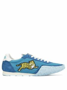 Kenzo appliqué detail sneakers - Blue