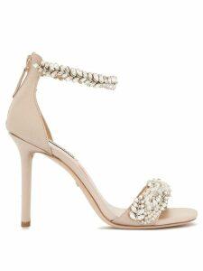 Badgley Mischka Fiorenza embellished sandals - Pink