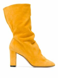 Marc Ellis slouched slip-on boots - Yellow