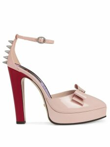 Gucci Patent leather pump with bow - PINK