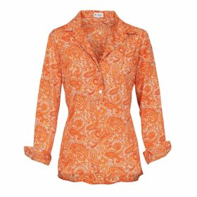 At Last. - Orange Paisley Soho Shirt