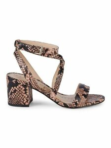 Sammy Snake-Embossed Sandals