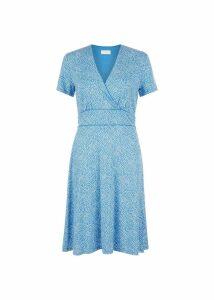 Darcie Dress Blue White
