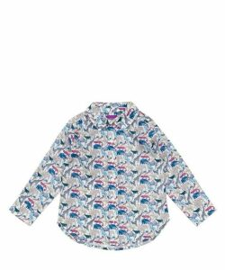Queue For The Zoo Tana Lawn Cotton Long Sleeve Shirt 2-10 Years