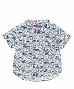 Queue For The Zoo Tana Lawn Cotton Short Sleeve Shirt 2-10 Years