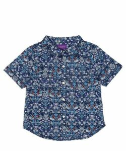 Strawberry Thief Tana Lawn Cotton Short-Sleeve Shirt 2-6 Years