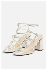 Womens Rebellious Strappy Sandals - White, White
