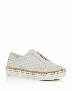 J/Slides Women's Kayla Woven Slip-On Platform Sneakers