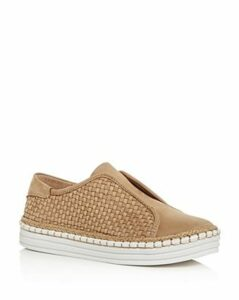 J/Slides Women's Kayla Woven Slip-On Platform Sneakers