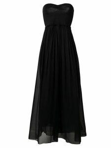 Forte Forte strapless flared dress - Black