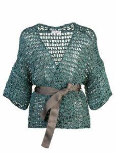 Brunello Cucinelli belted cardigan - Green