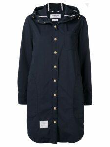 Thom Browne hooded shirt dress - Blue