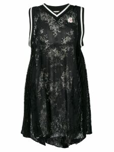 Marco De Vincenzo oversized lace top - Black