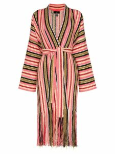 Alanui Baja stripes fringe cardigan - P188 Multicolor