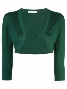 Oscar de la Renta cropped cardigan - Green