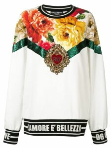 Dolce & Gabbana bead embroidery sweater - White