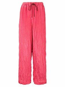 Muller Of Yoshiokubo Wavy wide leg trousers - PINK