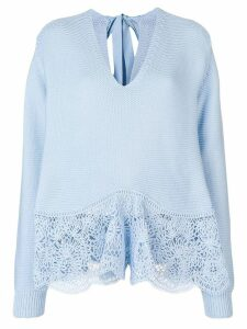 Stella McCartney crochet lace sweater - Blue