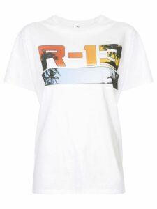 R13 logo print T-shirt - White