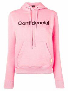 Marcelo Burlon County Of Milan Confidencial hoodie - PINK