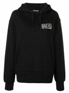 House of Holland slogan print hoodie - Black
