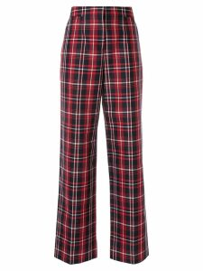 Juun.J checked straight trousers - Red