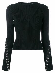 Alexander McQueen hook and eye jumper - Black