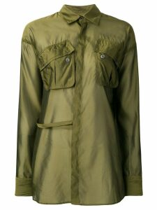 Dsquared2 Poplin wrap shirt - Green
