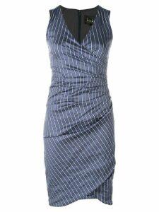 Nicole Miller fitted V-neck dress - Blue