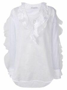 Ermanno Scervino frilled longsleeved blouse - White