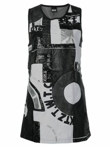 KTZ patchwork mini dress - Black